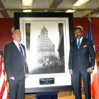 NYPD Commissioner Mr.James P. O'Neill and Steel Standing Memorial Foundation Founder Mr.Anthony Whitaker captured here during the Steel Standing Memorial Presentation at NYPD Headquarters. 01/23/2018