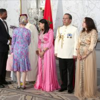 Steel Standing Memorial Foundation Founder, Anthony Whitaker greeting Moroccan Ambassador Omar Hilale and his family at the 19th-anniversary celebration of King Mohammed VI of Morocco ascension to the Throne. 07/30/2018