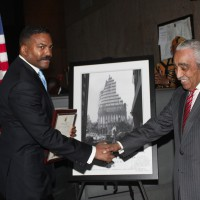 Anthony Whitaker Being Presented With a Federal Congressional Proclamation Award by US Congressman Charles B. Rangel.