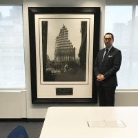 The Distinguished Commissioner of the F.D.N.Y., Mr.Daniel A. Nigro resonates the strength, and resilience symbolized by the profound STEEL STANDING image that is displayed in his conference room. 01/17/2017