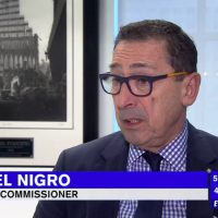 February 6, 2017: As F.D.N.Y. Commissioner, Daniel Nigro was being interviewed by abc News in connection with recruiting and hiring more minorities, particularly Asian Americans into the ranks of the F.D.N.Y., the iconic Steel Standing image loomed powerfully in the background. http://abc7ny.com/…/fdny-recruiting-campaign-to-fo…/1740419/