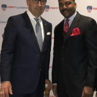 FDNY Commissioner Mr.Daniel A. Nigro, and Steel Standing Memorial Foundtion Founder, Mr.Anthony Whitaker at the FDNY Foundation Dinner 05/11/2017.