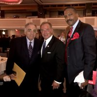 Mr.Stephen Gold, Managing Director of the Steel Standing Memorial Foundation, Mr.Steven Fisher, Chairman and CEO of Fisher Brothers subsidiary Plaza Construction Corporation, and Mr.Anthony Whitaker, Founder of the Steel Standing Memorial Foundation pictured here at the FDNY Foundation Dinner 05/11/2017.