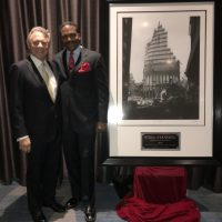 Steel Standing Memorial Foundation Founder, Mr.Anthony Whitaker and Mr.Stephen J. Meringoff, Managing Partner of Himmel + Meringoff Properties, Inc. Mr.Meringoff acquired the iconic Steel Standing photograph via the FDNY Foundation Dinner Auction. 05/11/2017