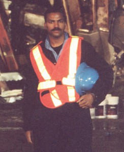 "First Responder, and Photographer of the Iconic Black & White ""STEEL STANDING"" Photograph, Anthony Whitaker, On Location at Ground Zero, Lower Manhattan, September 2001."