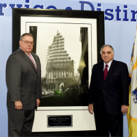 Superintendent Of The PAPD and Director of Public Safety Mr.Michael Fedorko and Steel Standing Memorila Foundation Managing Director Mr.Stephen Gold.