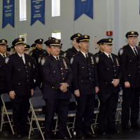 Over 300 Officers and High-Ranking Officers pictured here at the Official Steel Standing Memorial Presentation at Port Authority Police Headquarters May 1, 2018.