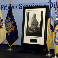 The Historical and Iconic Steel Standing Photograph captured here unveiled during the Official Steel Standing Memorial Presentation at PAPD Headquarters May 1, 2018.