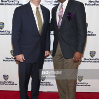 NYPD Police Commissioner Mr. James P. O'neill and Standing Memorial Foundation Founder Anthony Whitaker at the 2018 NYPD Foundation Dinner.