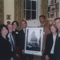 In 2002 Anthony Whitaker Founder of the Steel Standing Memorial Foundation and creator of the iconic Steel Standing photograph was invited to a private event to present a Steel Standing print to newly appointed 14th Commissioner of the New York City Department of Parks & Recreation, Mr. Adrian Benepe, serving in that role from February 4, 2002, to August 29, 2012, under Mayor Michael Bloomberg.